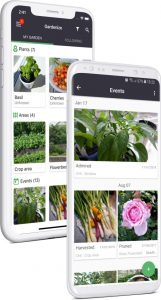 Gardenize mobile app for garden iOS and Android