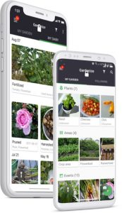 Gardenize mobile app for gardening