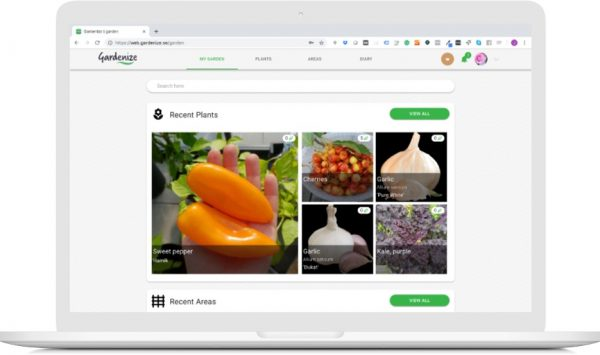 Gardenize web app for gardeners