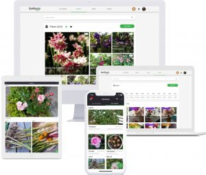 Gardenize gardening app for mobile and laptop