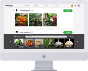 Gardenize online garden journal area add plants